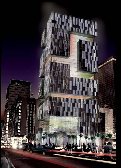 High Rise Hotel and Apartment Building: Dorsch Group DC India